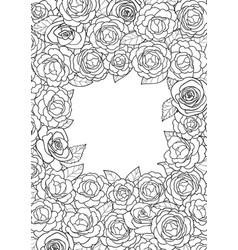 camellia square frame vector image