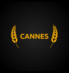 cannes festival laurel film awards winners film vector image
