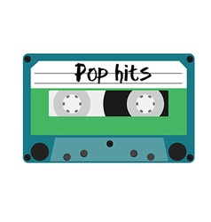 Cassette pop hits vector