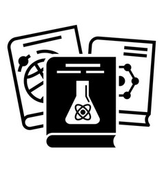 chemistry books icon simple style vector image