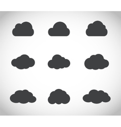 Cloud set vector image