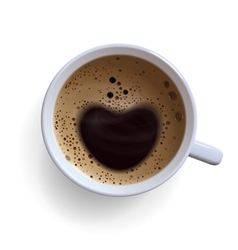 coffee cup with foam vector image