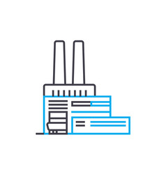factory linear icon concept factory line vector image