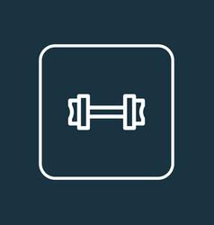 fitness icon line symbol premium quality isolated vector image