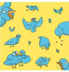 flock pigeons vector image
