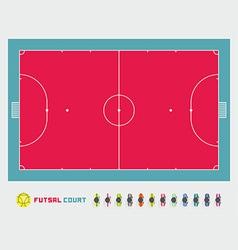 Futsal court vector