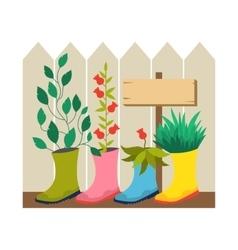 Garden flower bed vector image