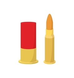 Golden bullets cartoon icon vector