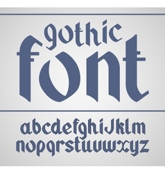 gothic handwritten font vector image
