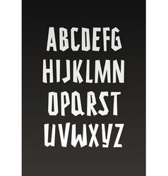 Graffiti font handwritten alphabet vector image