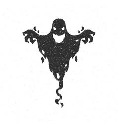Halloween scary ghost vector