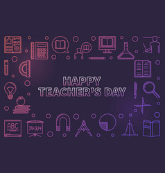 happy teachers day concept horizontal vector image