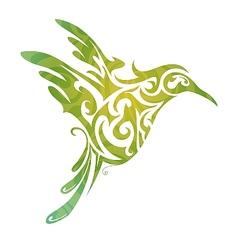 Hummingbird abstraction vector