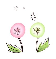 Icon dandelion vector