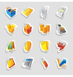 Icons for retail commerce vector