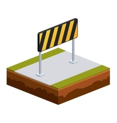 Isolated isometric road sign design vector