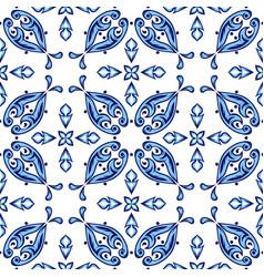 Italian tile pattern ethnic folk ornament vector