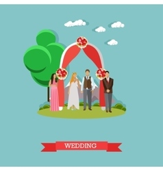 Just married couple concept vector