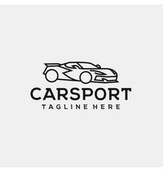 Line art car logo design vector