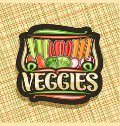 Logo for veggies vector