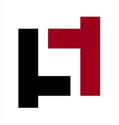 lt lnt initials geometric company logo vector image