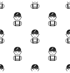 Mechanic black icon for web and vector image