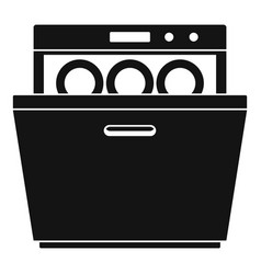 Modern dishwasher icon simple style vector