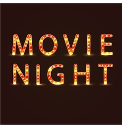 Movie night sign vector