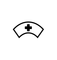 nurse cap icon design template isolated vector image