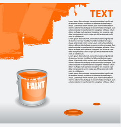 Orange paint dripping on the wall editable vector