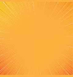 orange sunshine comic style background vector image