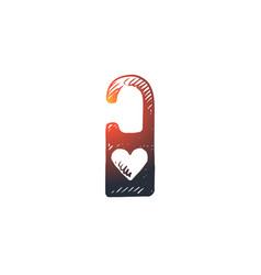 passion padlock love romantic heart concept vector image