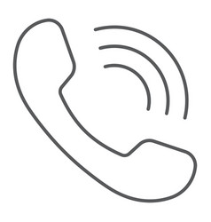 phone call thin line icon communication vector image