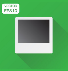 Photo frame icon business concept photograph vector