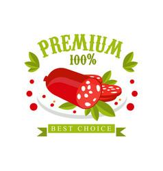premium 100 percent best choice logo template vector image vector image