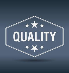 quality hexagonal white vintage retro style label vector image