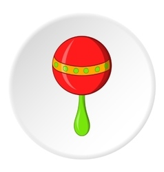Rattle icon cartoon style vector image