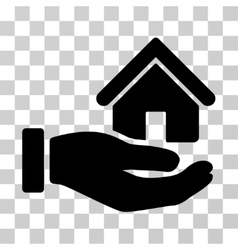 Real Estate Offer Hand Icon vector