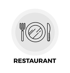 Restaurant line icon vector