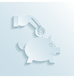 Savings and economy paper icon vector