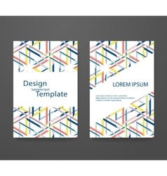 set of abstract elegant pattern for booklet layout vector image