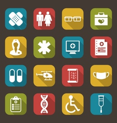 Set Trendy Flat Medical Icons vector image