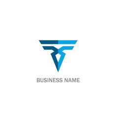 shape triangle line abstract company logo vector image