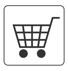 Shopping Cart Sign with frame vector
