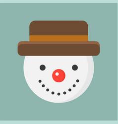 Snowman flat icon christmas theme set vector