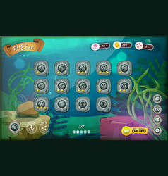 Submarine game user interface for tablet vector