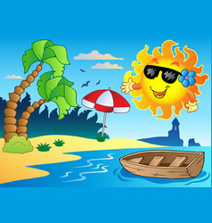 summer theme image 4 vector image
