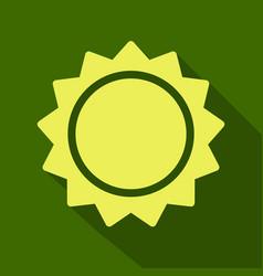 sun icon trendy summer symbol for website design vector image