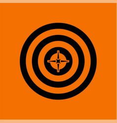 Target with dart in center icon vector