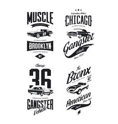 Tee-shirt logo isolated set vector